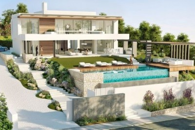 Attractive plot for 43 villas with pool