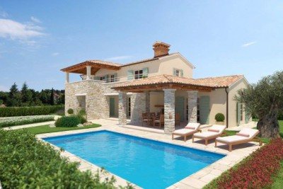 Newbuilt villa with sea view and pool
